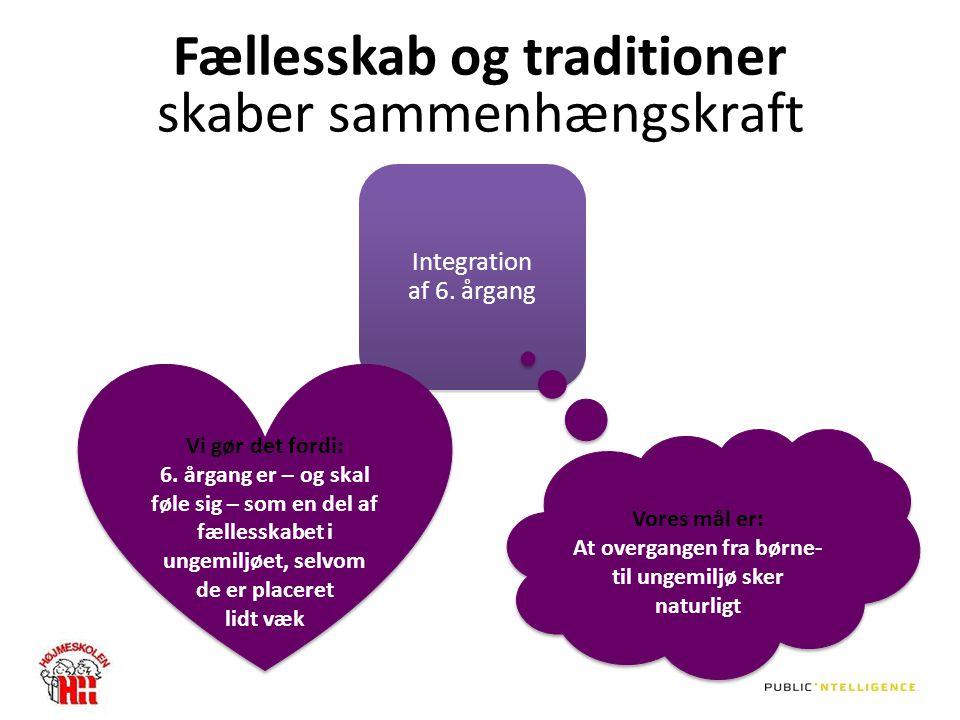 Fællesskab og traditioner skaber sammenhængskraft Integration af 6.