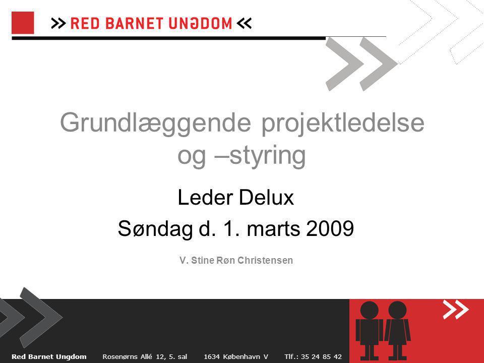 Grundlæggende projektledelse og –styring Leder Delux Søndag d.