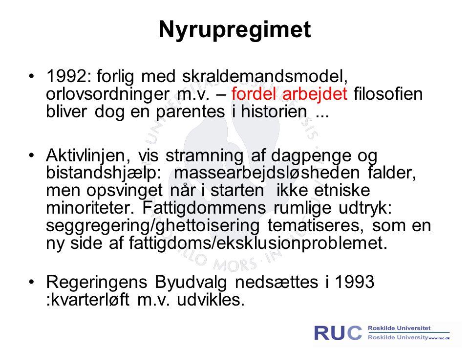 Nyrupregimet 1992: forlig med skraldemandsmodel, orlovsordninger m.v.