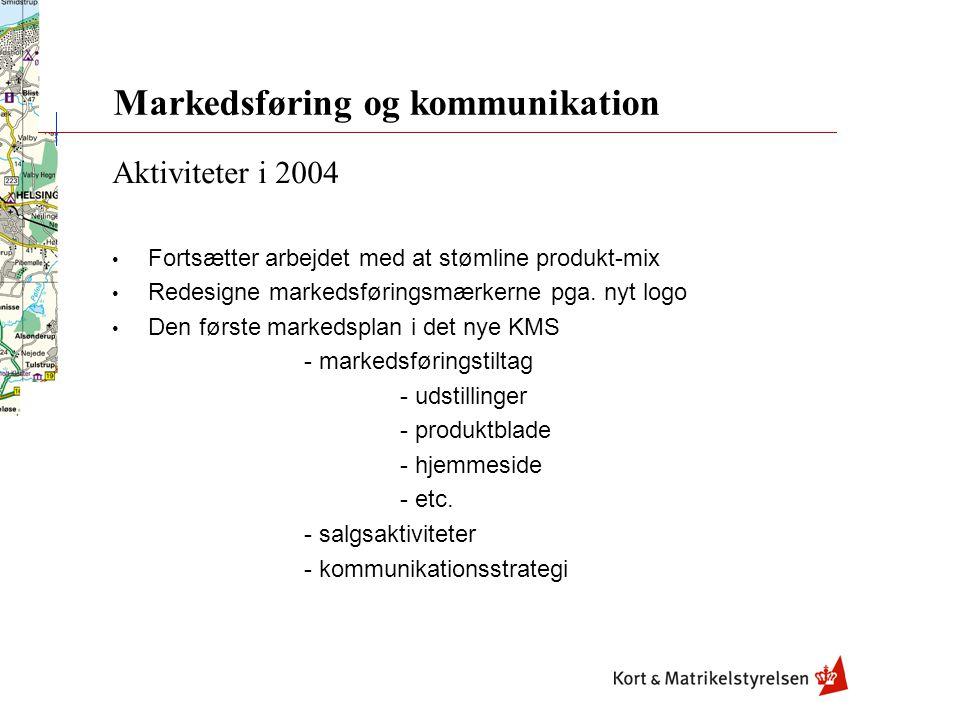 Aktiviteter i 2004 Fortsætter arbejdet med at stømline produkt-mix Redesigne markedsføringsmærkerne pga.