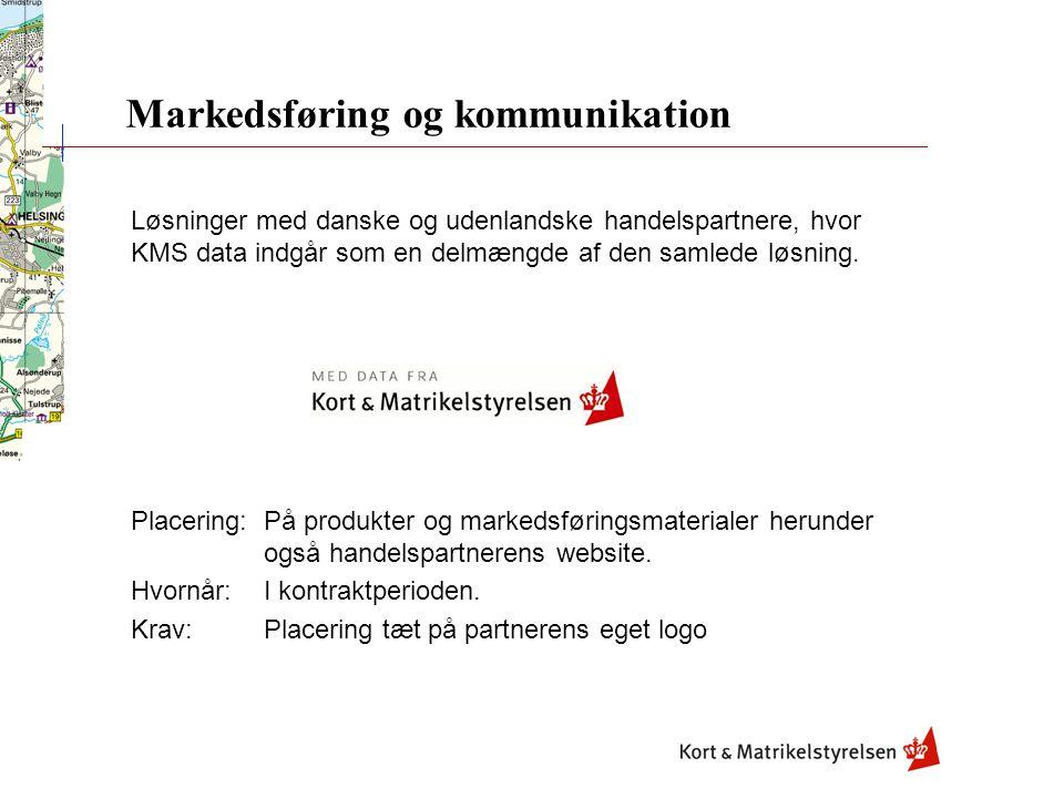 Løsninger med danske og udenlandske handelspartnere, hvor KMS data indgår som en delmængde af den samlede løsning.