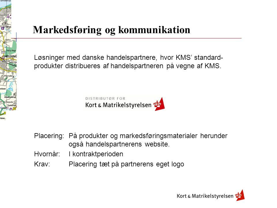 Løsninger med danske handelspartnere, hvor KMS' standard- produkter distribueres af handelspartneren på vegne af KMS.