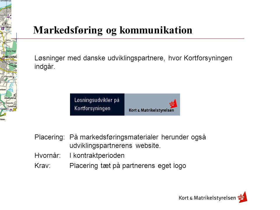 Løsninger med danske udviklingspartnere, hvor Kortforsyningen indgår.
