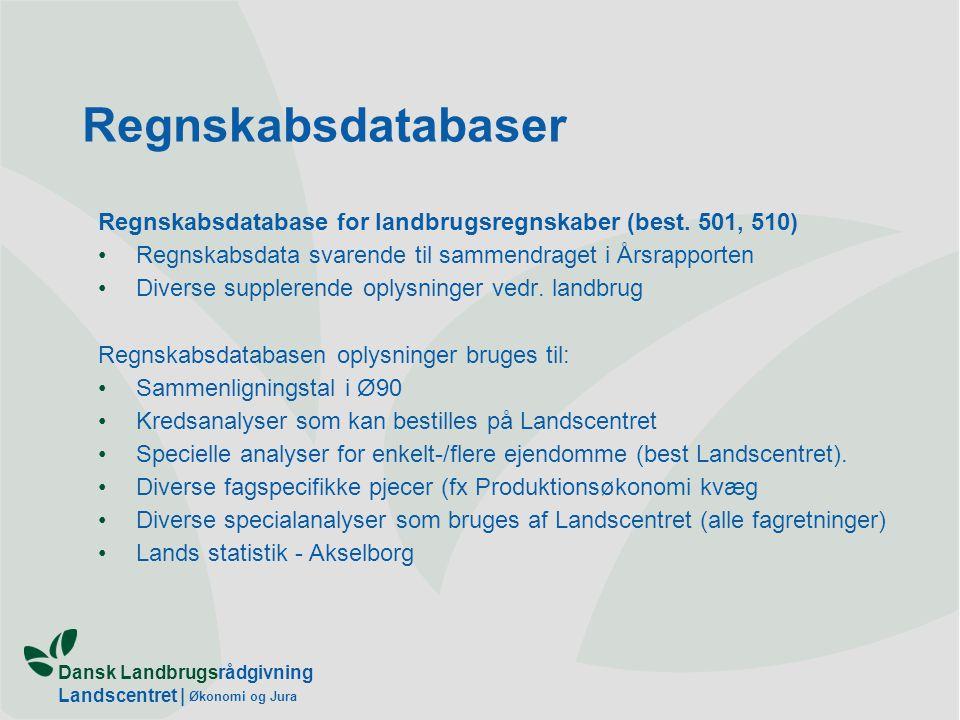 Dansk Landbrugsrådgivning Landscentret | Økonomi og Jura Regnskabsdatabaser Regnskabsdatabase for landbrugsregnskaber (best.