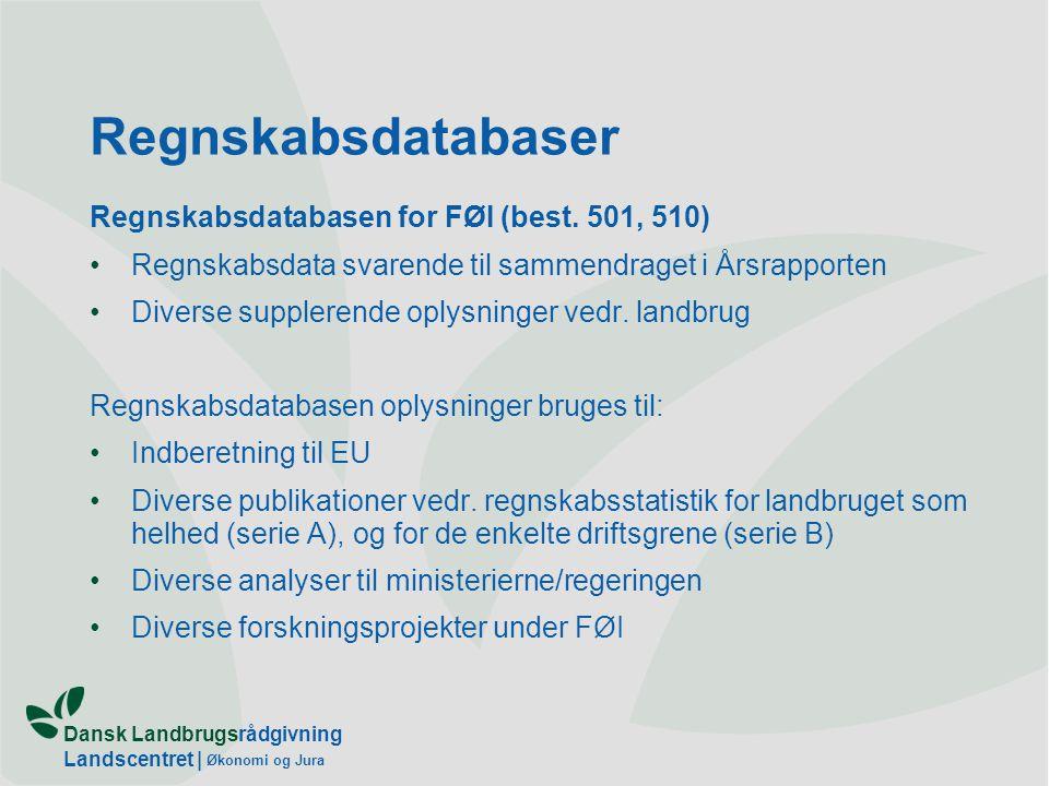 Dansk Landbrugsrådgivning Landscentret | Økonomi og Jura Regnskabsdatabaser Regnskabsdatabasen for FØI (best.