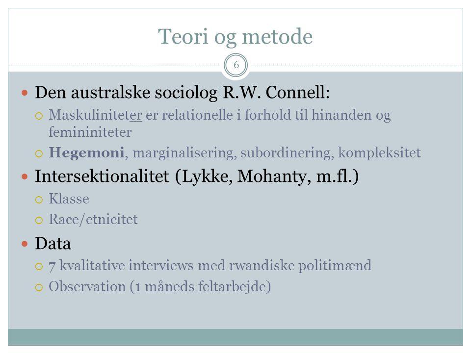 Teori og metode 6 Den australske sociolog R.W.