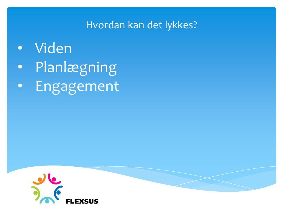 Hvordan kan det lykkes Viden Planlægning Engagement