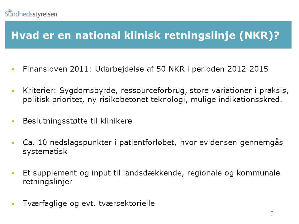 Hvad er en national klinisk retningslinje (NKR).