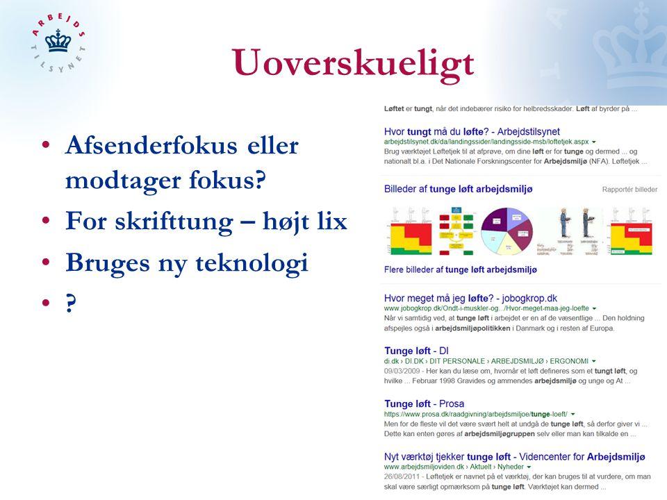 Uoverskueligt Afsenderfokus eller modtager fokus For skrifttung – højt lix Bruges ny teknologi
