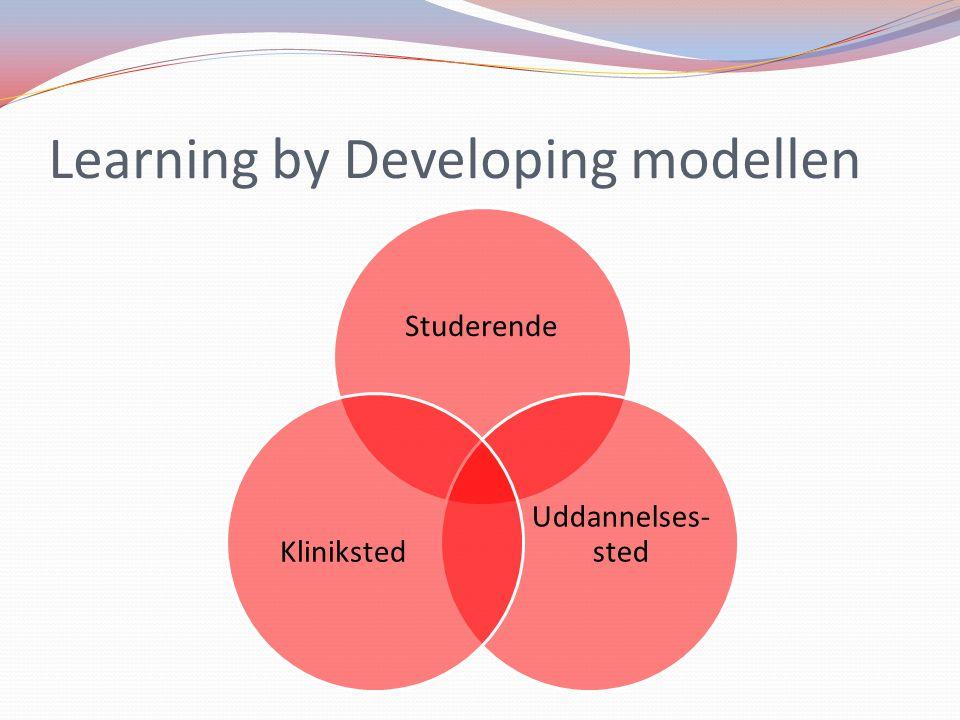 Learning by Developing modellen Studerende Uddannelses- stedKliniksted