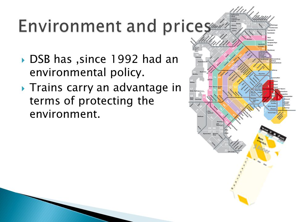  DSB has,since 1992 had an environmental policy.