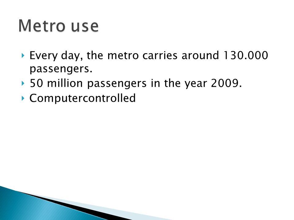 Every day, the metro carries around 130.000 passengers.