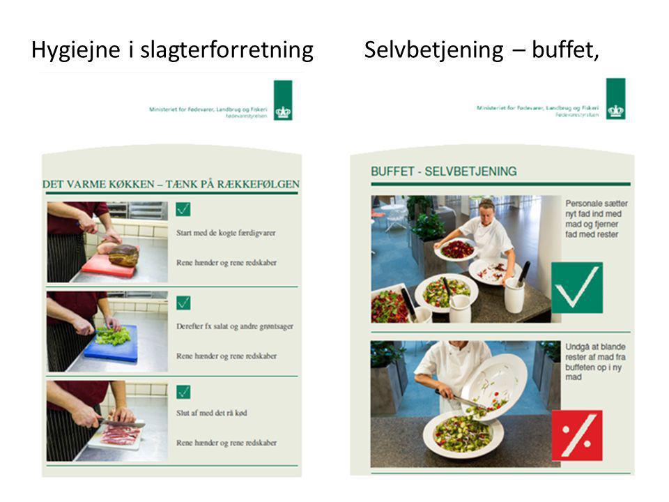 Hygiejne i slagterforretning Selvbetjening – buffet,