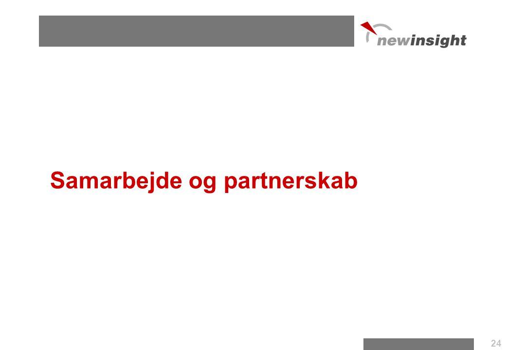 Samarbejde og partnerskab 24