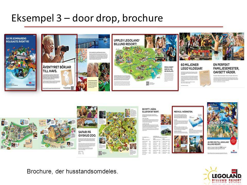 Brochure, der husstandsomdeles. Eksempel 3 – door drop, brochure