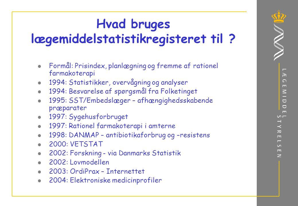 Hvad bruges lægemiddelstatistikregisteret til .
