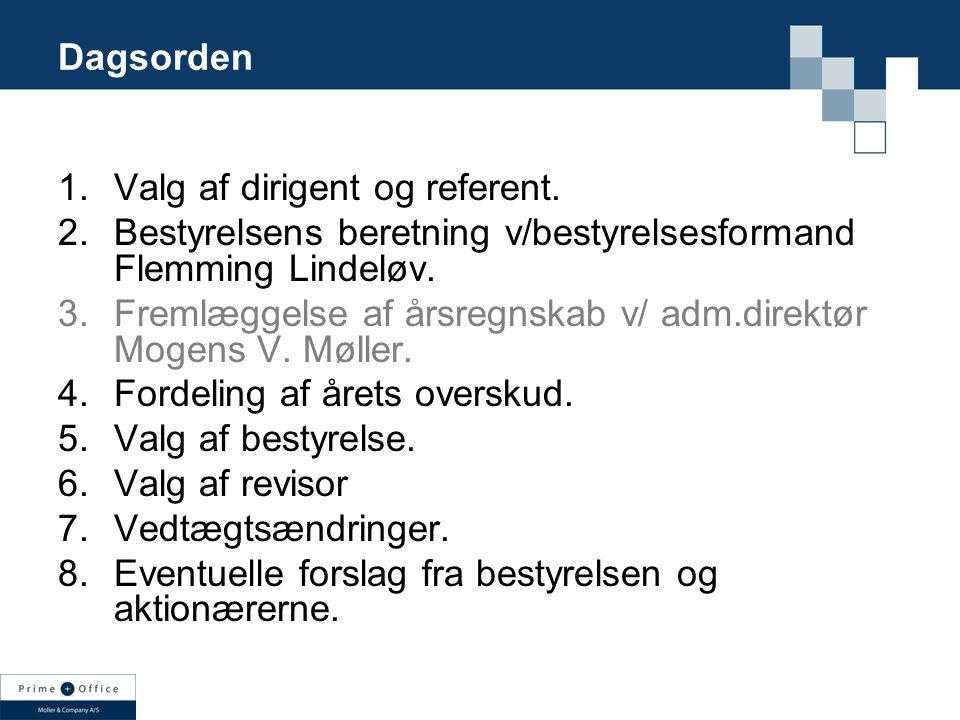 Dagsorden 1.Valg af dirigent og referent.