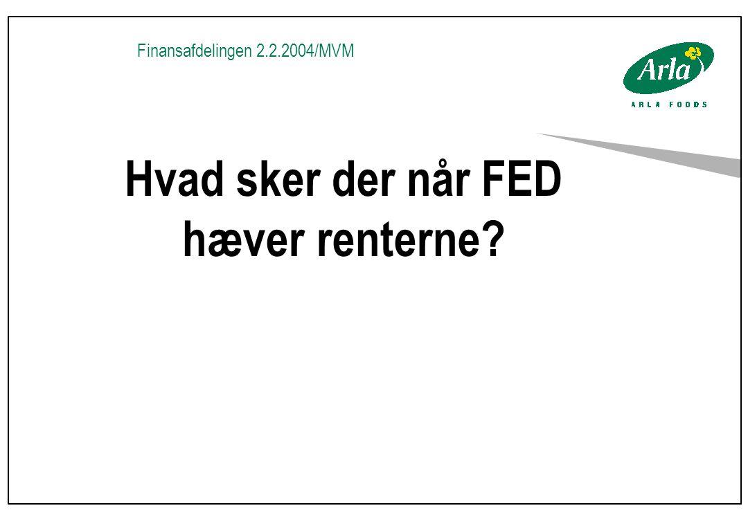 Finansafdelingen 2.2.2004/MVM Hvad sker der når FED hæver renterne