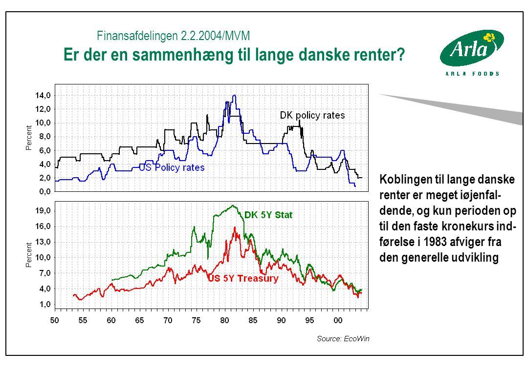 Finansafdelingen 2.2.2004/MVM Er der en sammenhæng til lange danske renter.