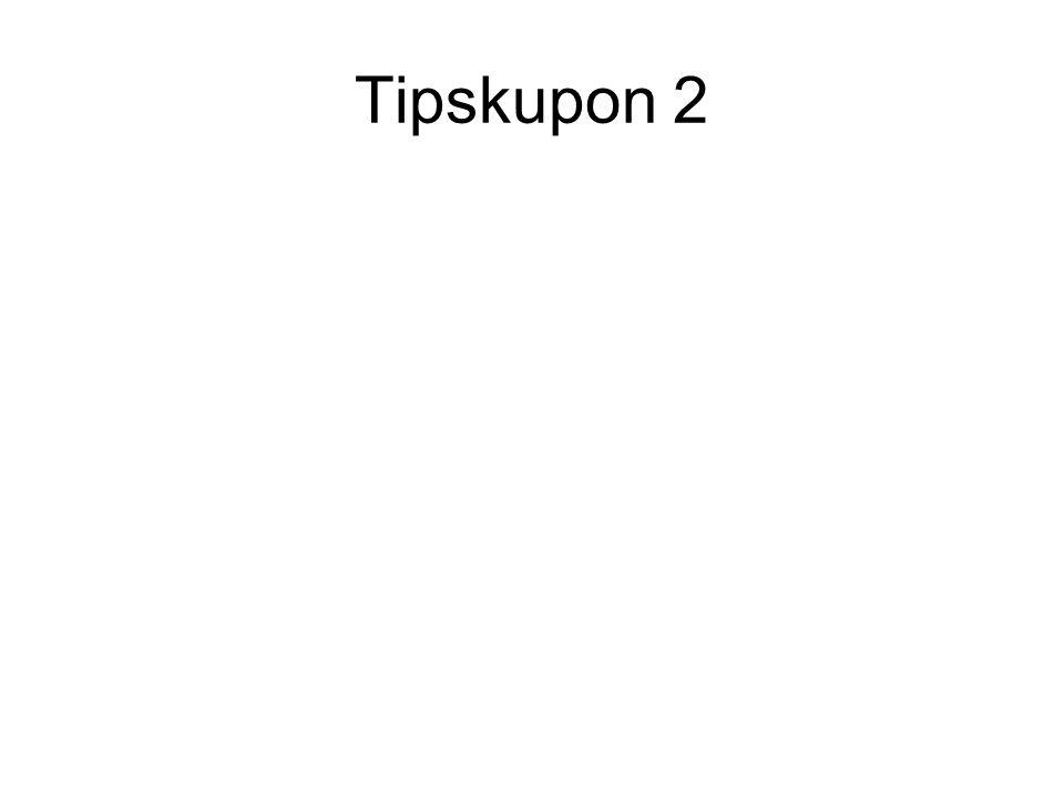 Tipskupon 2