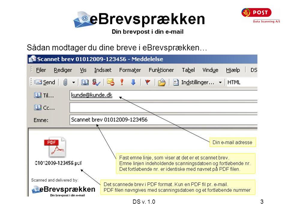 DS v. 1.03 Sådan modtager du dine breve i eBrevsprækken… Scanned and delivered by: