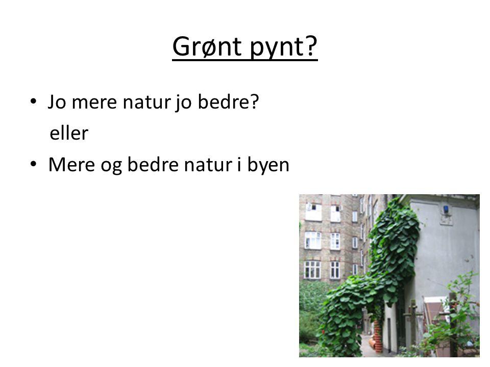Grønt pynt Jo mere natur jo bedre eller Mere og bedre natur i byen