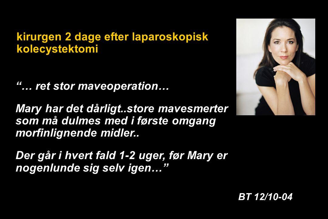 … ret stor maveoperation… Mary har det dårligt..store mavesmerter som må dulmes med i første omgang morfinlignende midler..