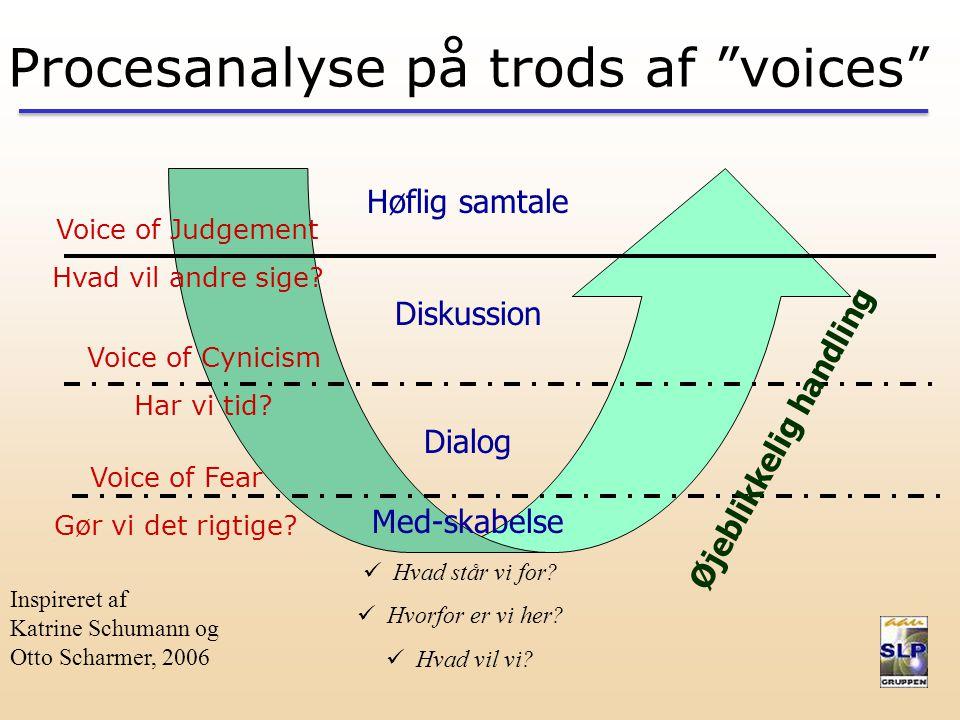 Inspireret af Katrine Schumann og Otto Scharmer, 2006 Voice of Judgement Hvad vil andre sige.
