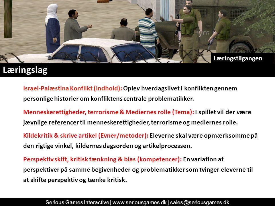 Læringslag Israel-Palæstina Konflikt (indhold): Oplev hverdagslivet i konflikten gennem personlige historier om konfliktens centrale problematikker.