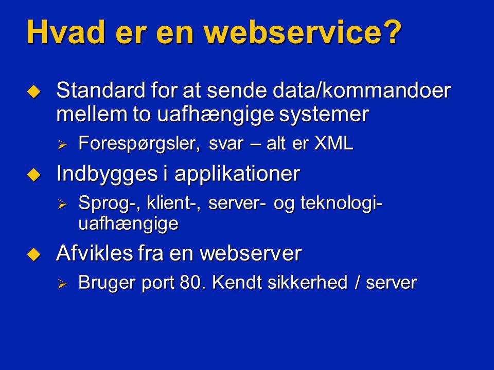 Hvad er en webservice.