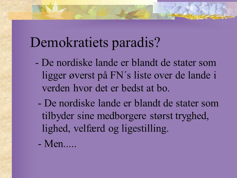 Demokratiets paradis.