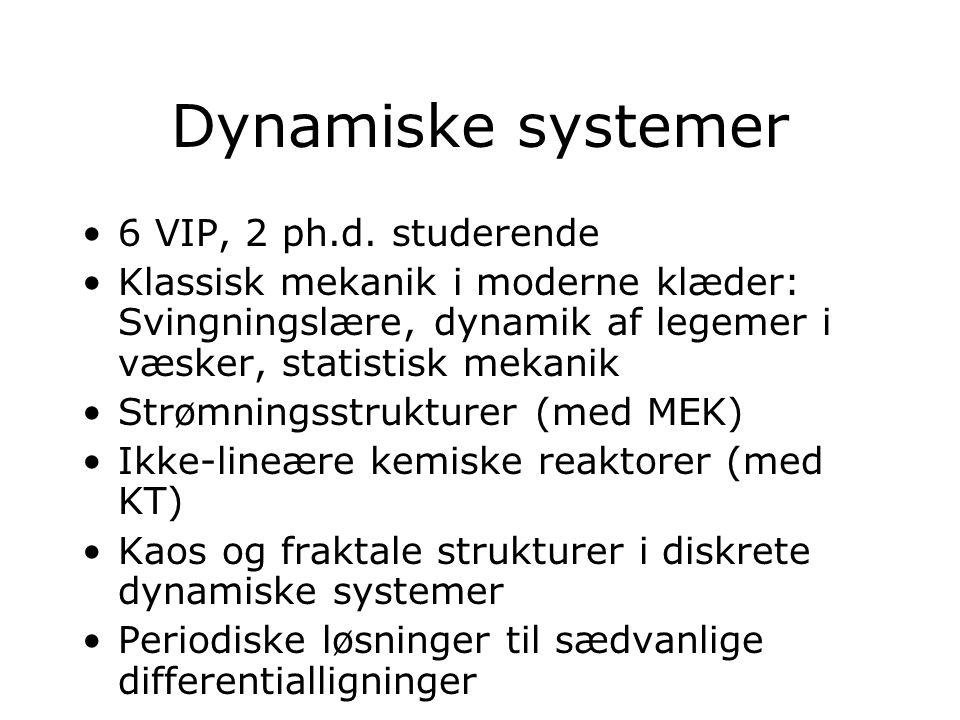 Dynamiske systemer 6 VIP, 2 ph.d.