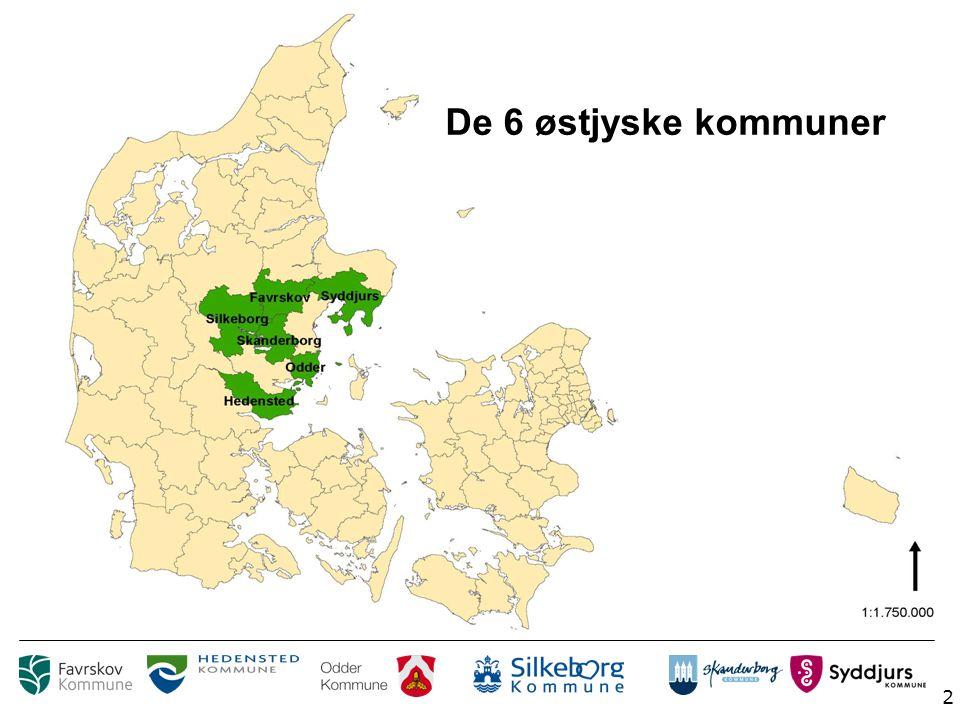 2 De 6 østjyske kommuner