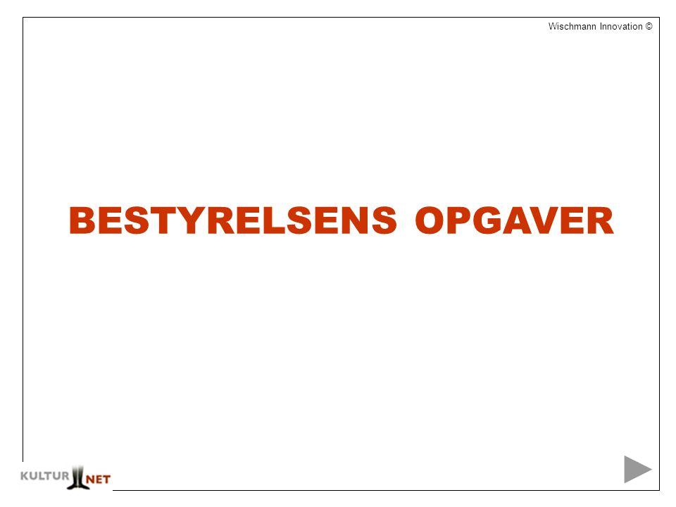 1 Wischmann Innovation © BESTYRELSENS OPGAVER