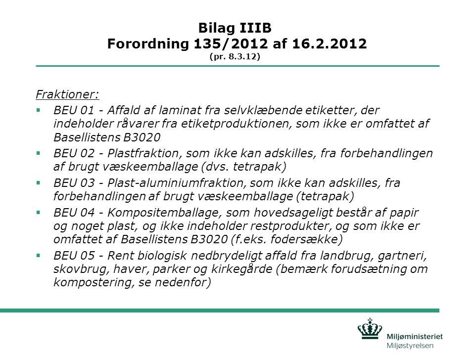Bilag IIIB Forordning 135/2012 af 16.2.2012 (pr.