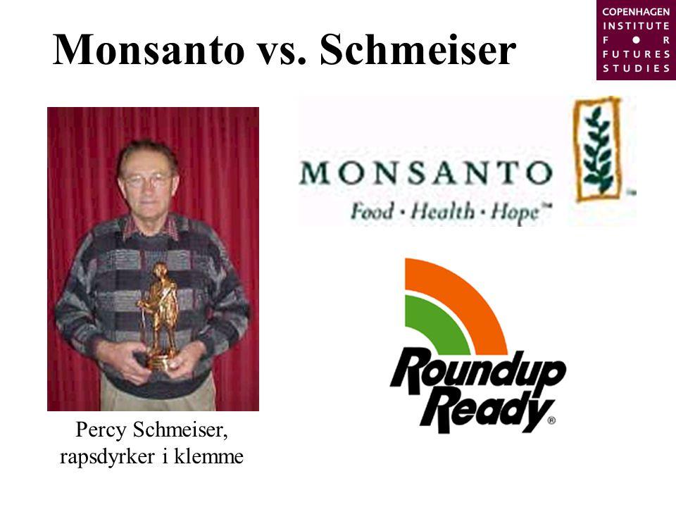 Monsanto vs. Schmeiser Percy Schmeiser, rapsdyrker i klemme