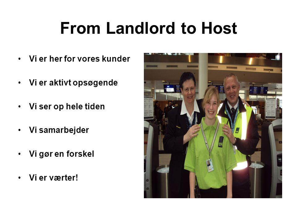 From Landlord to Host Vi er her for vores kunder Vi er aktivt opsøgende Vi ser op hele tiden Vi samarbejder Vi gør en forskel Vi er værter!