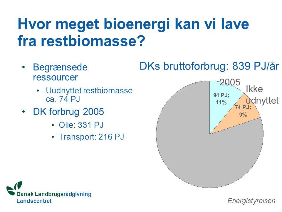 Dansk Landbrugsrådgivning Landscentret Hvor meget bioenergi kan vi lave fra restbiomasse.