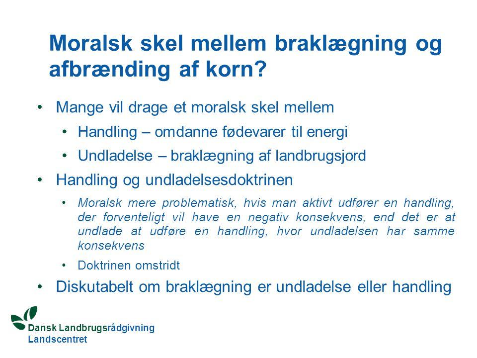 Dansk Landbrugsrådgivning Landscentret Moralsk skel mellem braklægning og afbrænding af korn.