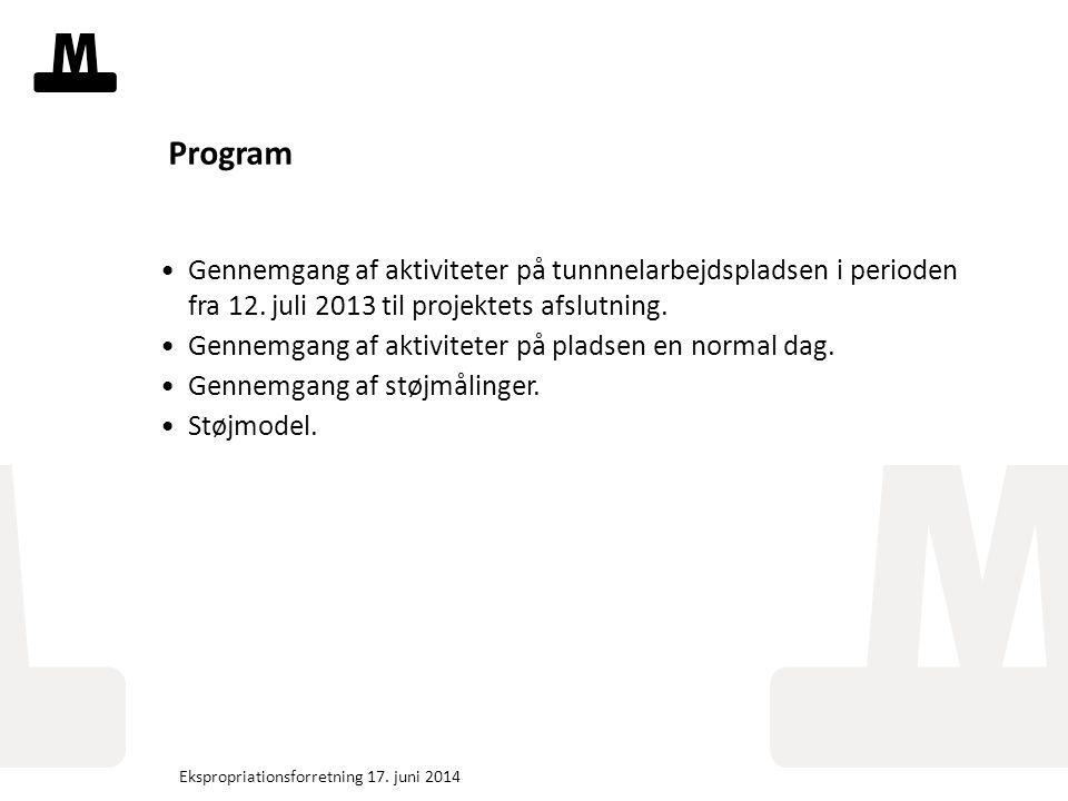 Tekstslide med bullets Brug 'Forøge / Formindske indryk' for at skifte mellem de forskellige niveauer Fjern bullets Klik på Bullet-knappen i Top-menuen Program Gennemgang af aktiviteter på tunnnelarbejdspladsen i perioden fra 12.