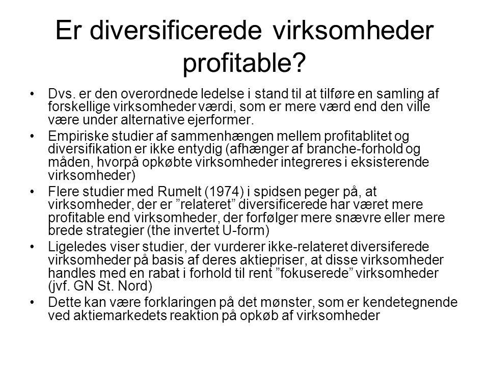 Er diversificerede virksomheder profitable. Dvs.