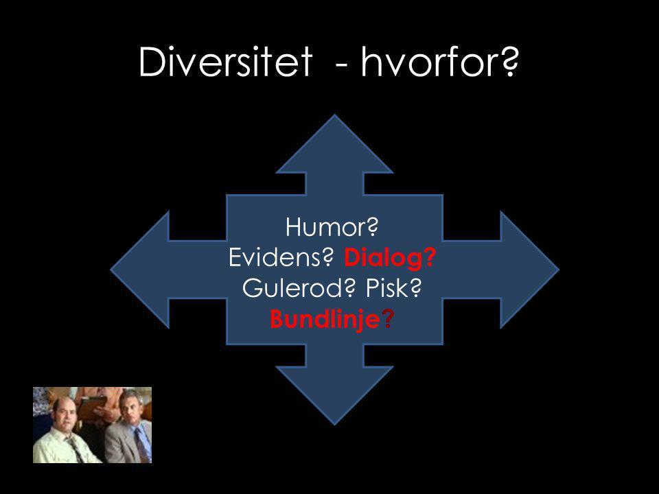 Diversitet - hvorfor Humor Evidens Dialog Gulerod Pisk Bundlinje