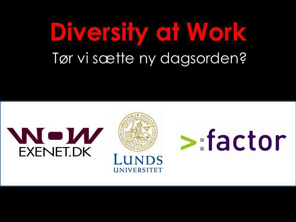 Diversity at Work Tør vi sætte ny dagsorden