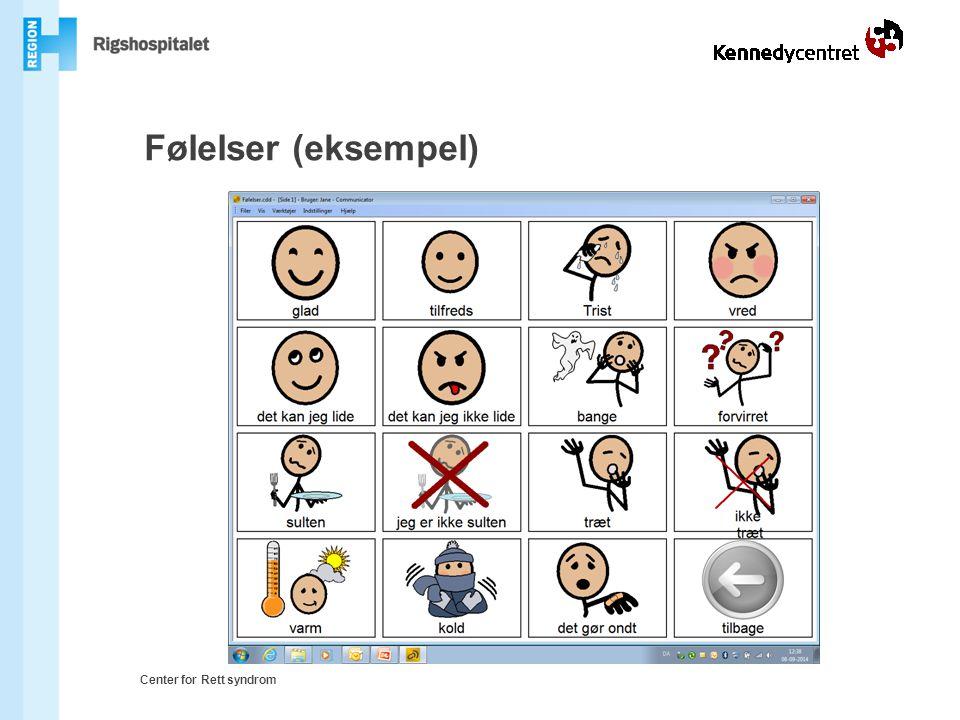 Følelser (eksempel) Center for Rett syndrom