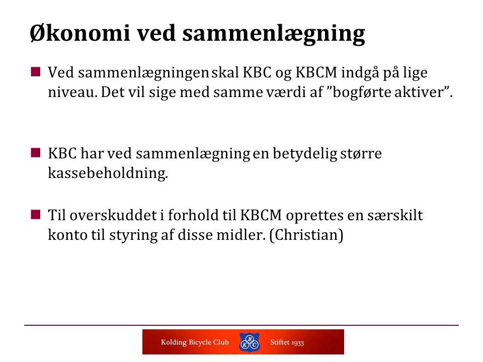 Ved sammenlægningen skal KBC og KBCM indgå på lige niveau.