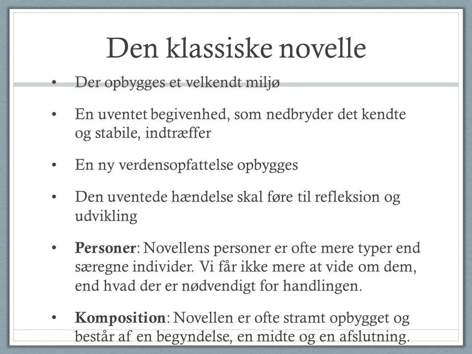 novellens komposition