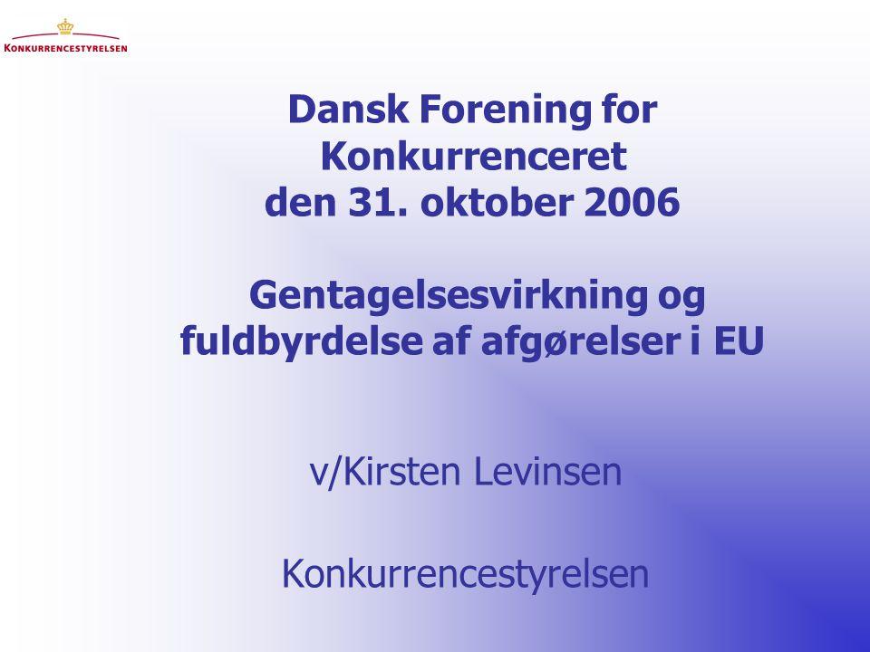 Dansk Forening for Konkurrenceret den 31.