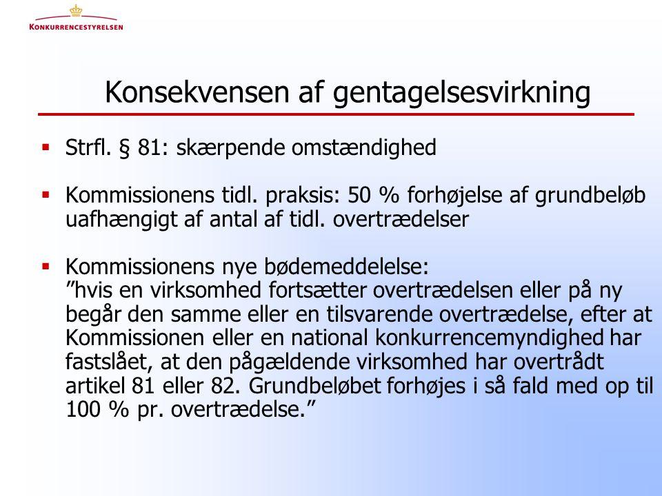  Strfl. § 81: skærpende omstændighed  Kommissionens tidl.
