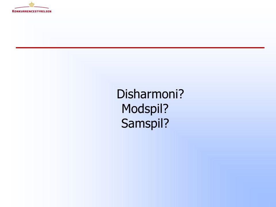 Disharmoni Modspil Samspil