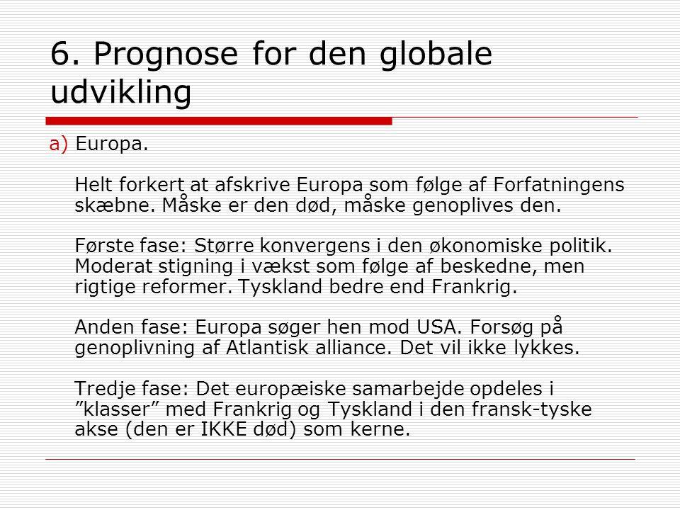 6. Prognose for den globale udvikling a) Europa.